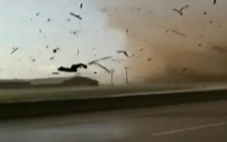 Man films inside of a tornado