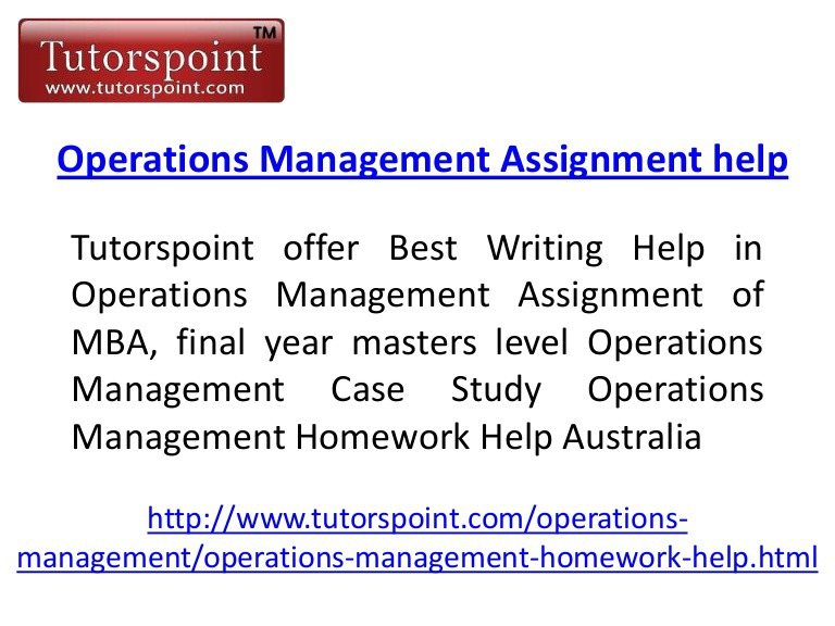operation management 4 essay