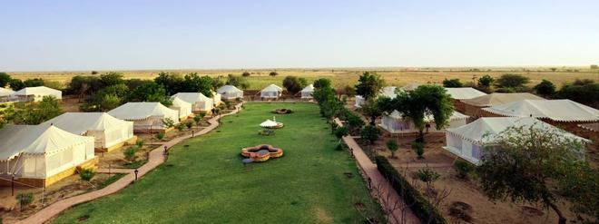 Jaisalmer Hotel Mirvana nature resort with Desert luxury Camps Rajasthan India