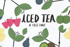 Iced Tea handwritten Latin and Cyrillic font by Amy Cox