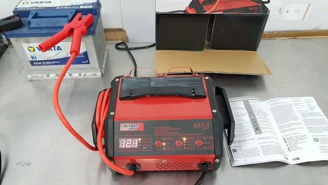 ULTIMATE SPEED - CAR BATTERY CHARGER & JUMP STARTER ULG 17 A1 а.С.м