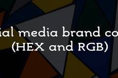 Social media brand colors (HEX and RGB)